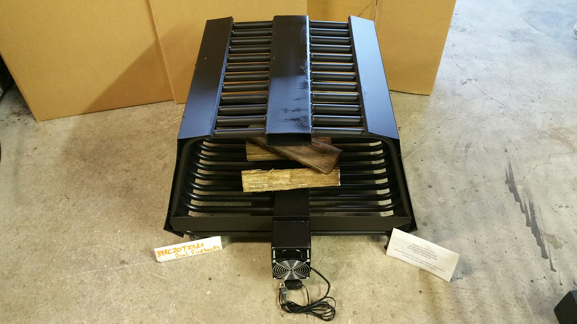 rc rib cage double sided fireplace grate blower wood rack insert
